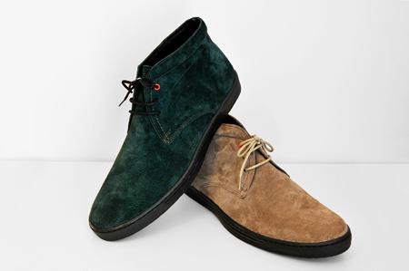 κυπαρισσί και καφέ καστόρ καθημερινό παπούτσι