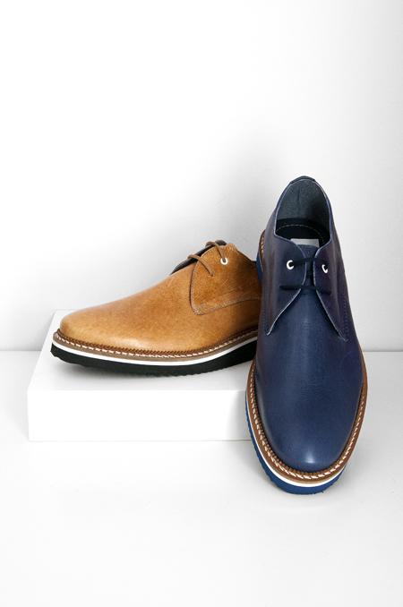 δερμάτινο ταμπά μπλέ καθημερινό παπούτσι